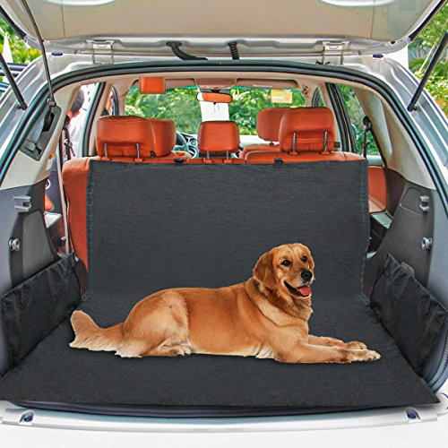 Cargo Liner, ELOKI Heavy Duty Pet Seat Cover, Waterproof Trunk Cargo Liner Dog Cargo Cover Hammock Back Seat Cover for Most Cars, SUV, Vans & Trucks, Black(153 103 34cm)