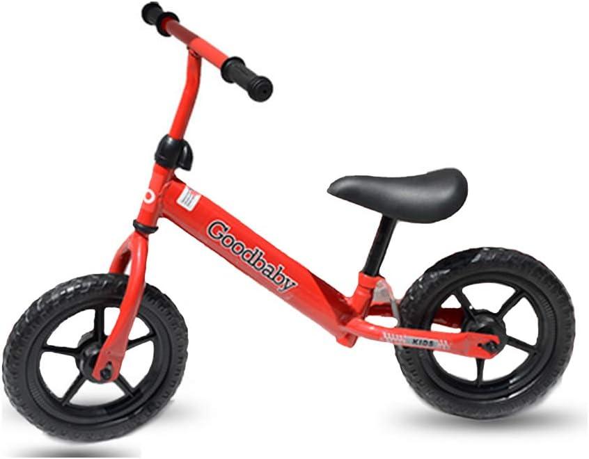 LEBEE Bicicleta De Equilibrio para Niños Bicicleta De 12 Pulgadas Coche De Equilibrio 1-6 Años De Edad Sin Pedal Niño Deslice,Red