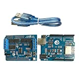 MagiDeal WiFi Robotic Controller Kit Servo Motor Driver Board DT-06 Serial WiFi HC-06 Module for Arduino