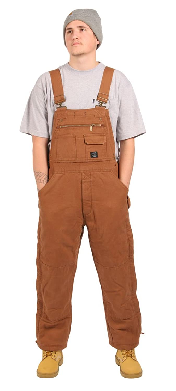 Mens - Insulated Dungarees Bib and Brace - Traditional - Brown