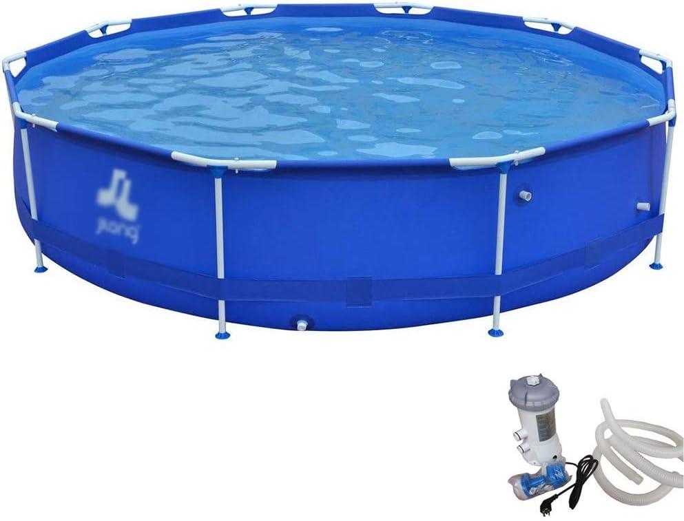 Adulto Familia piscina grande rectangular de soporte de PVC piscina infantil jardín al aire libre Piscina for niños piscinas infantiles de seguridad resistente Ajuste estanque de pesca, 3 * 0,76 m, 0,: Amazon.es: Hogar