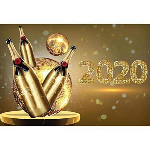 OFILA 2020 Backdrop 8x6ft Happy New Year Photography Background 2020 New Year Party Decoration Champagne Party New Year Festival Celebration Family Shoots Video Studio Props