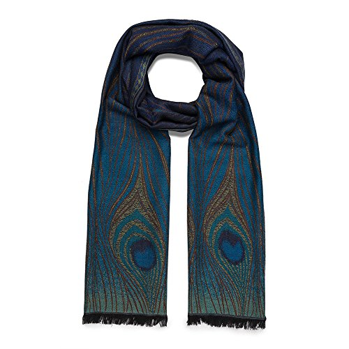 The Metropolitan Museum Of Art Women's Peacock Feather Printed Shawl Scarf