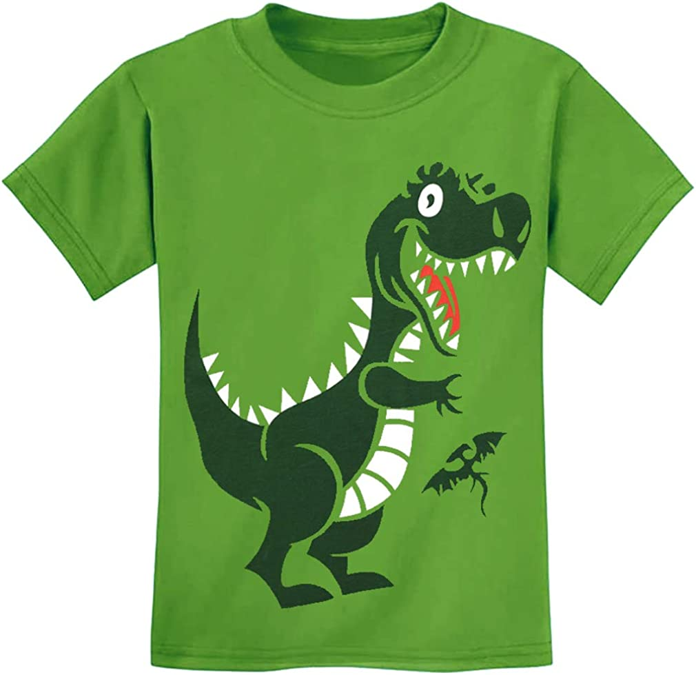 Toddler Baby Boys Tops Cartoon Dinosaur Print Tees Kids Cotton Clothes Summer Short Sleeves T-Shirts