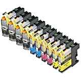 10 Pack Compatible Brother LC101 , LC103 4 Black, 2 Cyan, 2 Magenta, 2 Yellow for use with Brother DCP-J152W, MFC-J245, MFC-J285DW, MFC-J4310DW, MFC-J4410DW, MFC-J450DW, MFC-J4510DW, MFC-J4610DW, MFC-J470DW, MFC-J4710DW, MFC-J475DW, MFC-J650DW, MFC-J6520DW, MFC-J6720DW, MFC-J6920DW, MFC-J870DW, MFC-J875DW. Ink Cartridges for inkjet printers. LC101BK , LC101C , LC101M , LC101Y , LC103BK , LC103C , LC103M , LC103Y © Zulu Inks