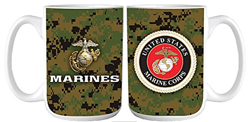 U.S. Marine Corps digital camo coffee mug 15 oz.