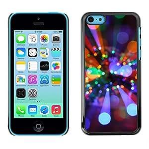 YOYO Slim PC / Aluminium Case Cover Armor Shell Portection //Christmas Holiday Lights 1218 //Apple Iphone 5C