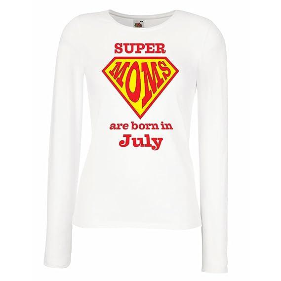 lepni.me Camisetas de Manga Larga para MujerLas Mamás estupendas Nacen en Julio - Regalos