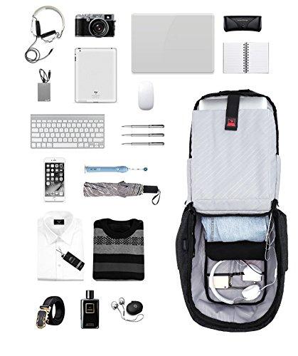 BigForest Anti-theft Business laptop Rucksack Travel Backpack with USB port computer backpack Schulerucksack for School Work