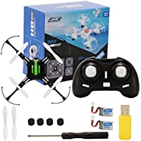 2.4GHz 4 Channel 6-Axis Gyro Drone with Headless Mode One Key Auto-Return Quadcopter RC Quadcopter with 3 Battery Black