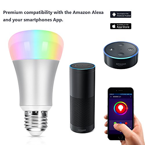 usa wifi smart led light bulb oittm 60w equivalent dimmable multicolored color changing lights. Black Bedroom Furniture Sets. Home Design Ideas