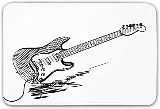 Tapetes de goma antideslizantes con respaldo de goma para guitarra ...