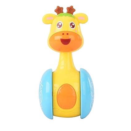 Topker Giraffe Tumbler Doll Roly-poly Sonajeros de bebé Ring ...