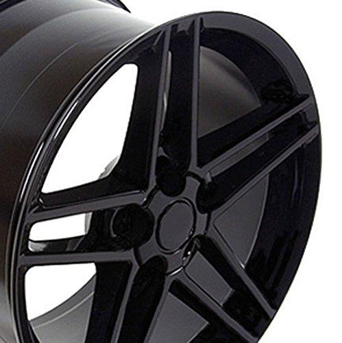 OE Wheels 17 Inch Fits Chevy Camaro Corvette Pontiac Firebird C6 Z06 Style CV07A Gloss Black 17x9.5 Rim