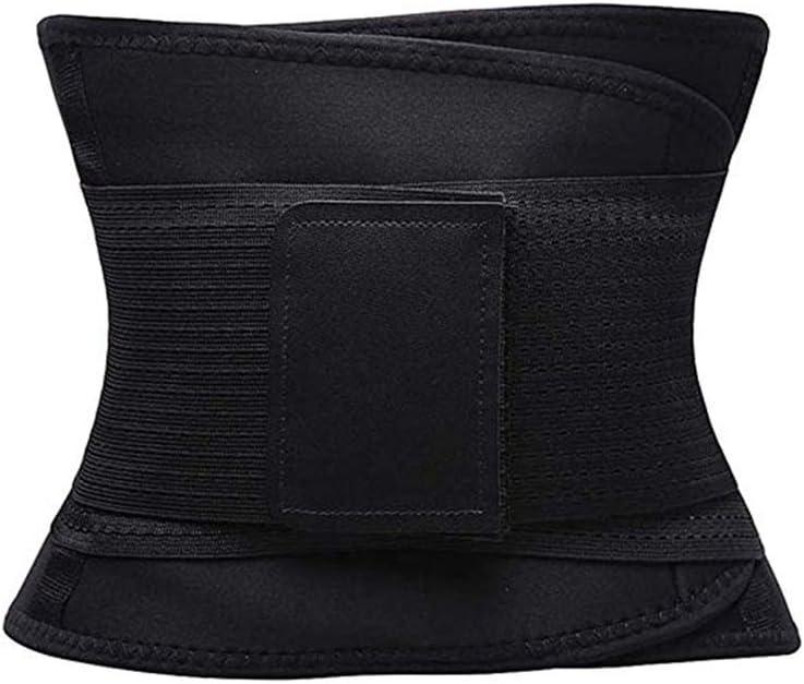YQLM Body Shaper Postparto Correa de Modelado Cintur/ón Entrenador de Cintura Cors/é Adelgazante Cintur/ón Negro Talla L