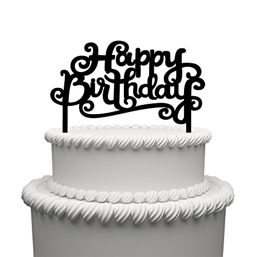 A Series Of Happy Birthday Acrylic Cake Topper - Various Birthday Cake Supplies Decorations (006)