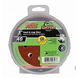 Gator Finishing 4347 40 Grit Aluminum Oxide Sanding Discs (50 pack), 5''