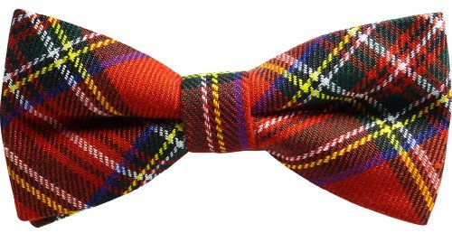 JTC Belt Great Quality Pre-Tied Bow TieRed Plaid