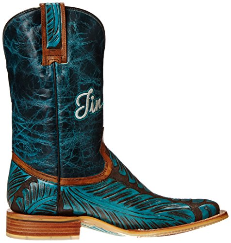 Tin Haul Shoes Women's Feathers Western Boot Brown/Turquoise WTM4mM2Yq