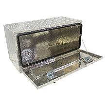 "BRAIT® 36"" Aluminum Truck Pickup Underbody Underbed Tool Box Trailer Bed Rail Storage"
