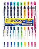 DONG-A 3-Zero, Gel Ink Rollerball Pens, 0.38mm, Assorted Colors (10 Color Set)