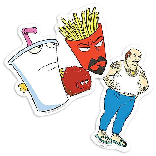 Popfunk Aqua Teen Hunger Force Aqua Teens and Carl Collectible Stickers