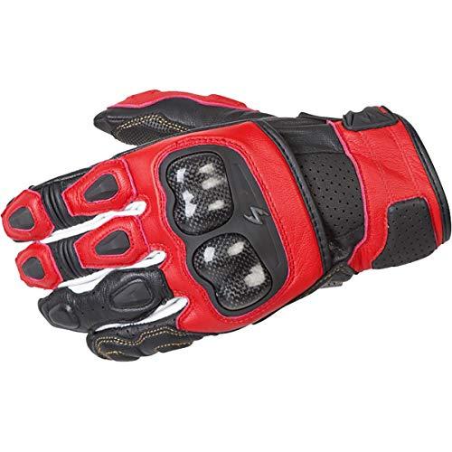 (ScorpionExo SGS MKII Men's Short Cuff Sport Gloves (Red, Large))