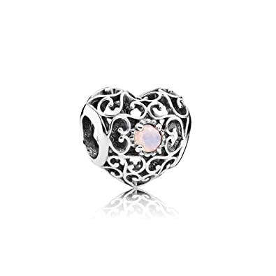 daa1eac38 ... birthstone pearl sterling silver dangle charm 61902 5a03b sale pandora  791784nop october signature heart charm aa0de d0912 ...