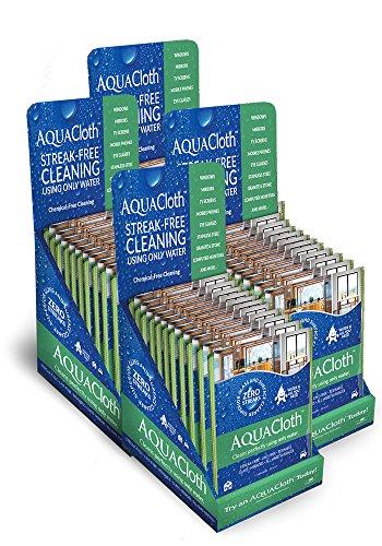 AquaCloth AQ500-96 AquaCloth AQ500 Nano-fiber 18'' x 15'' Cleaning Towel Master Carton (4 - 24 Packs of 2 Cloths - 96 Packs), Thickness (Pack of 96) by AquaCloth