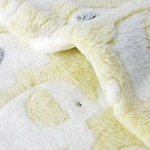 2 Packs Large 43'' x 35'' Cat Blanket Yellow Soft Warm Fleece Throw Blanket Pet Dog Blanket Fleece Puppy Blanket Cushion Ultra Light Comfortable Soft Warm Sleep Mat by Yizhi Miaow (Image #2)