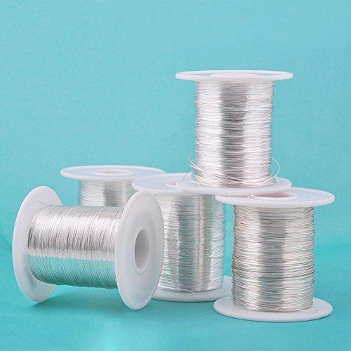 FidgetFidget Audio Video Speak Cable 1M 3.28ft 999 Pure Silver Wire Round Wire for DIY HiFi
