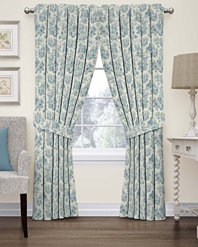 Floral Toile Curtain - 1