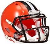 NFL Cleveland Browns Replica Mini Helmet, Medium, Black/Orange