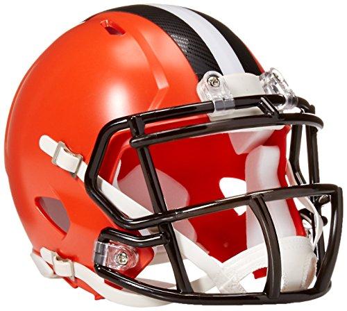 Riddell NFL Cleveland Browns Replica Mini Helmet, Medium, Black/Orange