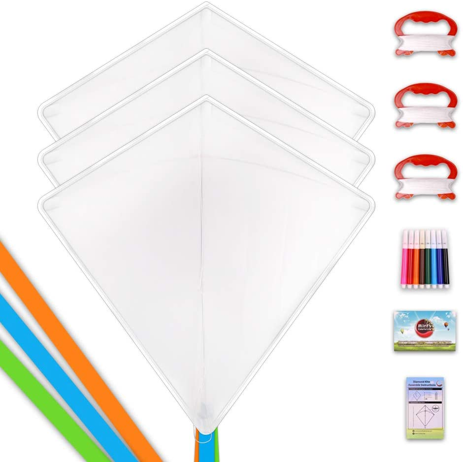 Spend Time with Friends and Family Yummy Looking 3d Pizza Kite for Boys and Girls 2 Pack Kites for Kids Easy to Fly with 50 LB x 328ft Twisted Kite String and Sturdy Easy-Grip Flat Handle