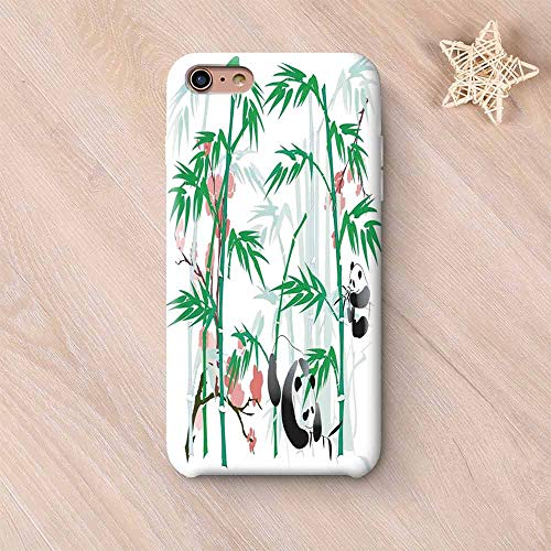 - Bamboo Frosted & Smooth Surface Compatible with iPhone Case,Giant Woody Grass Bamboos and Panda Bear in Chinese Tropics Artsy Print Compatible with iPhone 7/8 Plus,iPhone 6 Plus / 6s Plus