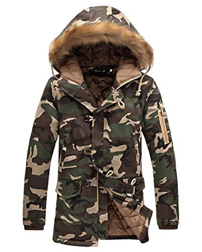 Men's Outdoor Camouflage Printed Coat Men's Armeegrün Sweat Outerwear Parka Jacket Apparel Overcoat Nener Hooded Jacket ZwqUrxRZ