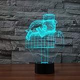 Cartoon Mailbox Moulding Table Lamp USB 7 Colors Changing 3D Led Snowman Letter Box Night Light Living Room Decor Kid Xmas Gifts Lbonb