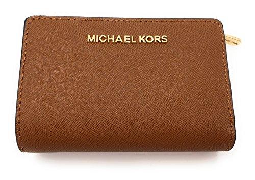 MICHAEL Michael Kors Jet Set Travel Bifold Zip Coin Wallet (Luggage) -