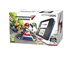 Nintendo UK Nintendo Handheld Console - Black/Blue 2Ds With Pre-Installed Mario Kart 7