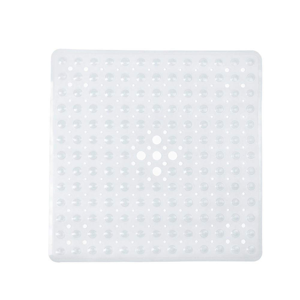 Blue Bubble Effect Anti Slip Durable PVC YPYSYL Square Non slip Deluxe Bath//Shower Mat 54x54CM
