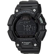 Men's 'TOUGH SOLAR' Quartz Stainless Steel and Resin Sport Watch, Color:Black (Model:...