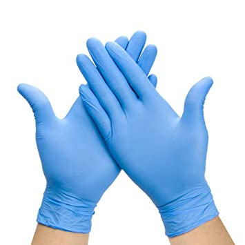 Image result for blue vinyl gloves powdered