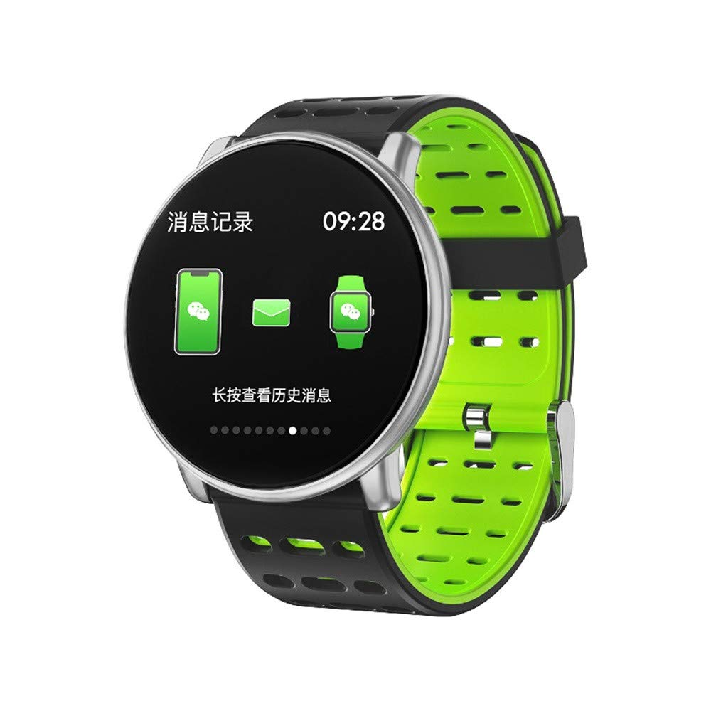 LEMFO LT03 Smart Watch for Android & IOS, SHUDAGE Women Men 1.33 inch TFT Screen Tempered glass DIY Watch Faces Multi-sports Mode Heart Rate Monitor (D)