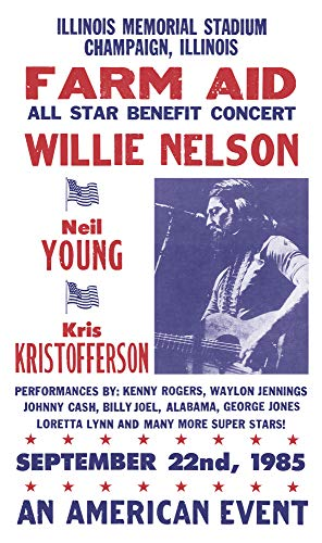 - Per Diem Printing Farm Aid All Star Benefit - Willie Nelson - Neil Young - Kris Kristofferson - 13