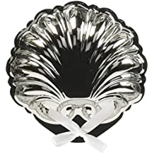 Inspire Nation Baptismal Shell Silver Finish with White Ribbon