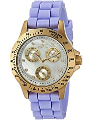 Invicta Womens Speedway Quartz Stainless Steel and Silicone Casual Watch, Color:Purple (Model: 21975)