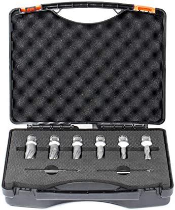 STIER Kernbohrer Quick-IN Set, 6-teilig (12, 14, 16, 18, 20, 22 mm), Schnitttiefe: 35 mm, 2 Zentrierstifte