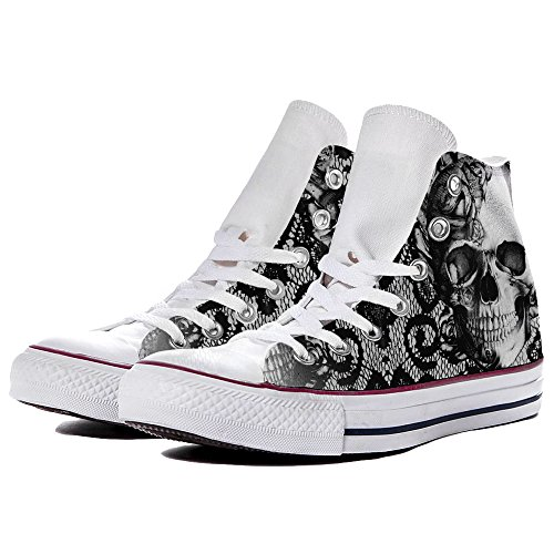 Lace amp; Skull Scarpe by Sneaker Converse YourStyle Personalizzate gn1XBIq