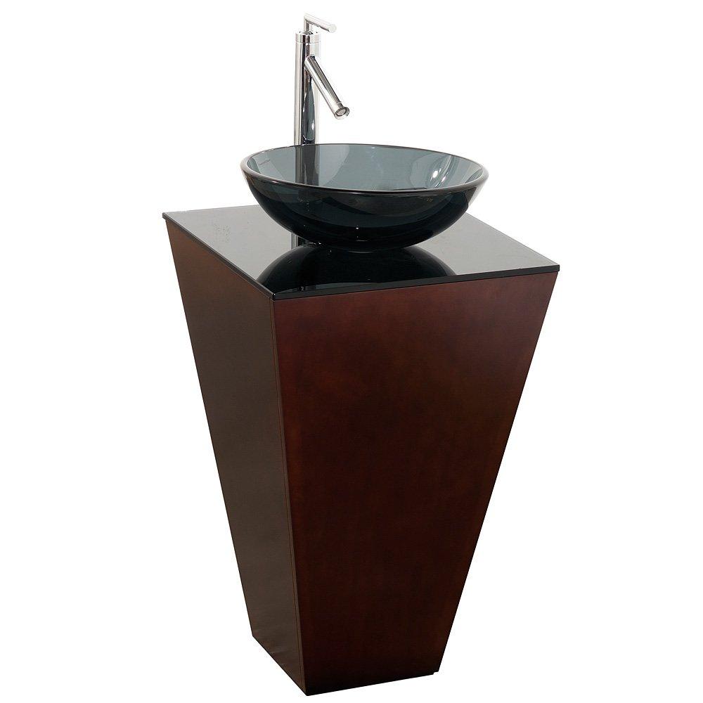 Wyndham Collection Esprit 20 Inch Pedestal Bathroom Vanity In